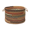 Colonial Mills 18-in W x 12-in H x 18-in D Warm Chestnut Fabric Basket