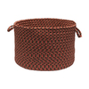 Colonial Mills 18-in W x 12-in H Rusted Rose Plastic Basket