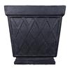 allen + roth 16.5-in x 17.5-in Black Fiberglass Planter