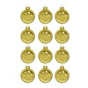 Holiday Living 12-Pack Shiny Gold Glass Ornaments