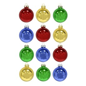 Holiday Living 12-Pack Multicolored Ornament Set