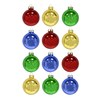 Holiday Living 12-Pack Shiny Multi-Color Glass Ornaments