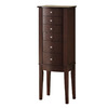 Powell Merlot Floorstanding Jewelry Armoire