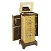 Powell Masterpiece Golden-Antique Parchment Floorstanding Jewelry Armoire