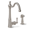 Premier Faucet Sonoma Brushed Nickel 1-Handle High-Arc Kitchen Faucet with Side Spray