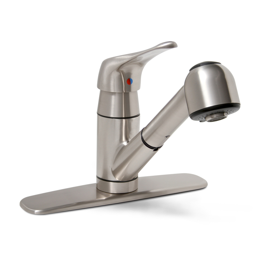shop premier faucet sonoma brushed nickel 1 handle pull vigo stainless steel pull out kitchen faucet overstock