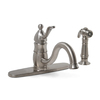Premier Faucet Sonoma PVD-Brushed Nickel 1-Handle Low-Arc Kitchen Faucet with Side Spray