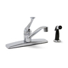Premier Faucet Concord Chrome 1-Handle Low-Arc Kitchen Faucet with Side Spray