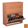 Venture Horizon Oak Wood Shoe Storage