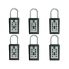 Lockstate 6-Piece Gray Key Dock Steel Lock Box