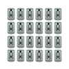 Lockstate 24-Piece Gray Key Dock Steel Wall Mount Lock Box