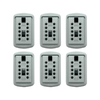 Lockstate 6-Piece Gray Key Dock Steel Wall Mount Lock Box