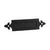 Gatemate Powder-Coated Black Letter Box Slot