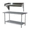 Buffalo Tools Stainless Steel Work Table with Shelf