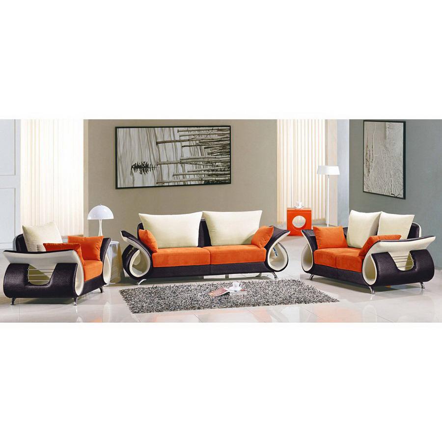 shop tosh furniture 3 piece multicolor living room set at