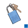 Morris Products Blue Aluminum Keyed Different Padlock