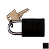 Morris Products Black Aluminum Keyed Different Padlock