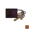 Morris Products Brown Aluminum Keyed Different Padlock