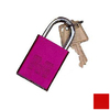 Morris Products Red Aluminum Keyed Different Padlock