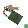 Morris Products Green Aluminum Keyed Different Padlock