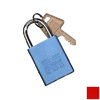 Morris Products Red Aluminum Colors Keyed Alike Padlock