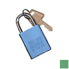 Morris Products Green Aluminum Colors Keyed Alike Padlock