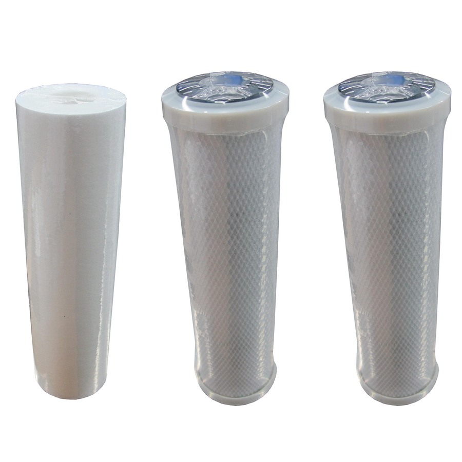 Shop whirlpool 3 pack standard reverse osmosis under sink replacement filter at - Lowes water filter under sink ...