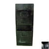 Cheung's 12.5-in x 31.5-in Metal Black Wall Mount Mailbox