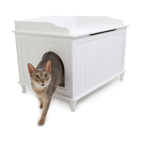 Designer Pet Products White Litter Box
