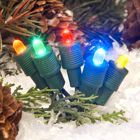 TreeKeeper Multicolor Lighted LED Super Mini Light Ornament