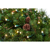 TreeKeeper 1 36-in Pre-Lit Pine Indoor/Outdoor Artificial Christmas Wreath with With White Incandescent Battery-Operated Lights