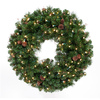 TreeKeeper Lighted Black Forest Pine Ornament Wreath Ornament