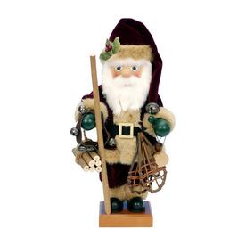 Alexander Taron Wood Nordic Santa Nutcracker Ornament