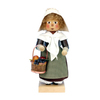 Alexander Taron Wood Mrs Pilgrim Nutcracker Ornament