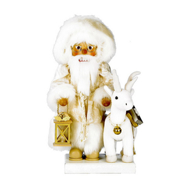 Alexander Taron 1-Piece Christian Ulbricht Tabletop White Dreams Santa Nutcracker Indoor Christmas Decoration