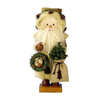 Alexander Taron Wood Tweedy Santa Nutcracker Ornament