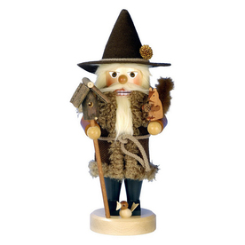 Alexander Taron Wood Woodsman Natural Nutcracker Ornament