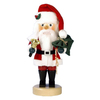 Alexander Taron Wood Santa with Bell Red Nutcracker Ornament