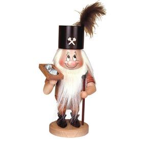 Alexander Taron Wood Dwarf Miner Natural Nutcracker Ornament