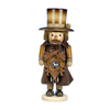 Alexander Taron Wood Clock Maker Natural Nutcracker Ornament
