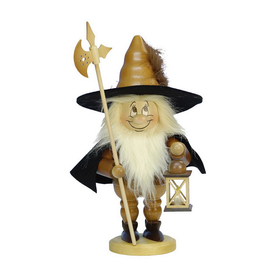 Alexander Taron Wood Dwarf Night Watchman Natural Nutcracker Ornament