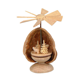 Alexander Taron Wood Mini Nutshell Sheep Pyramid Ornament