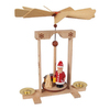 Alexander Taron Wood Santa Train Pyramid Ornament