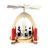 Alexander Taron Wood Carolers and Tree Pyramid Candle Holder Ornament