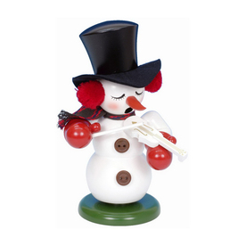 Alexander Taron Musical Snowman with Violin Smoker Ornament