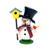 Alexander Taron Mini Snowman with Birdhouse Smoker Ornament