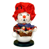 Alexander Taron Wood Mrs Snowman with Fruit Basket Ornament