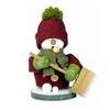 Alexander Taron Wood Snowman with Shovel Smoker Ornament
