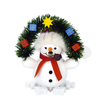 Alexander Taron Wood Mini Snowman with Arch Smoker Ornament