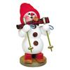 Alexander Taron Wood Snowman On Skis Smoker Ornament
